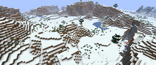 Minecraft Xbox 360 Snow and Mountain Biome Seed