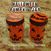 Halloween Pumpkin Treat Jars by Cheng and 3 Kids