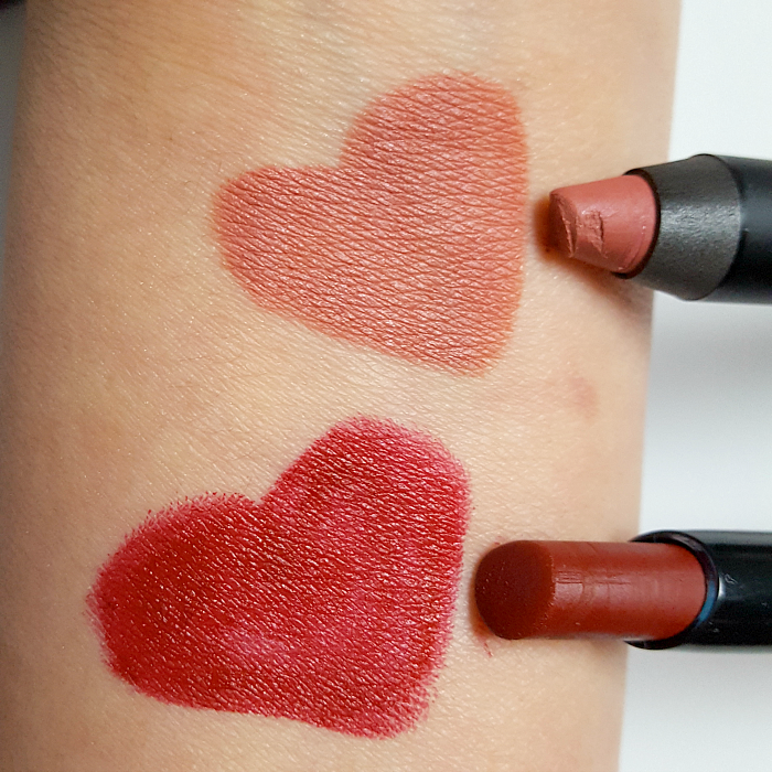 Review & Swatches: glominerals Suede Matte Crayon Monogram & Suede Matte Stick Port - je 29.00 Euro