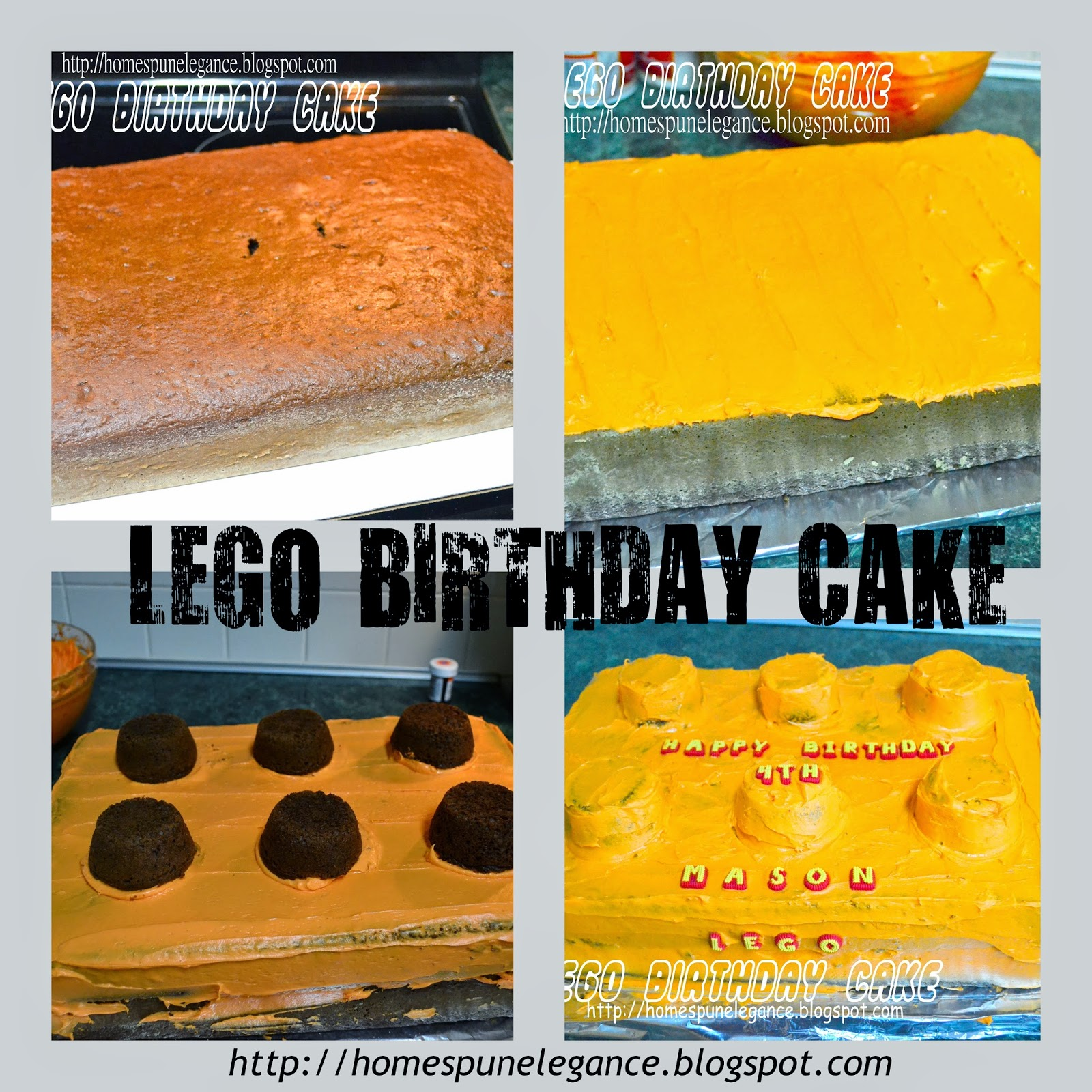 Homespun Elegance Diy Lego Birthday Cake