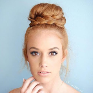 chic bun and braid prom hairstyles