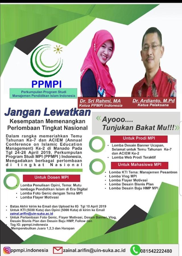 PPMPI Mengadakan Lomba untuk Prodi MPI Se-Indonesia