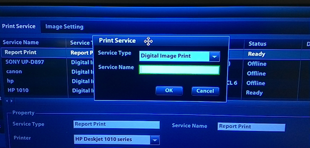 6. add new service printer