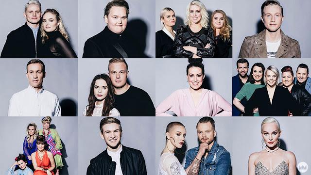 Participantes del Söngvakeppnin 2018