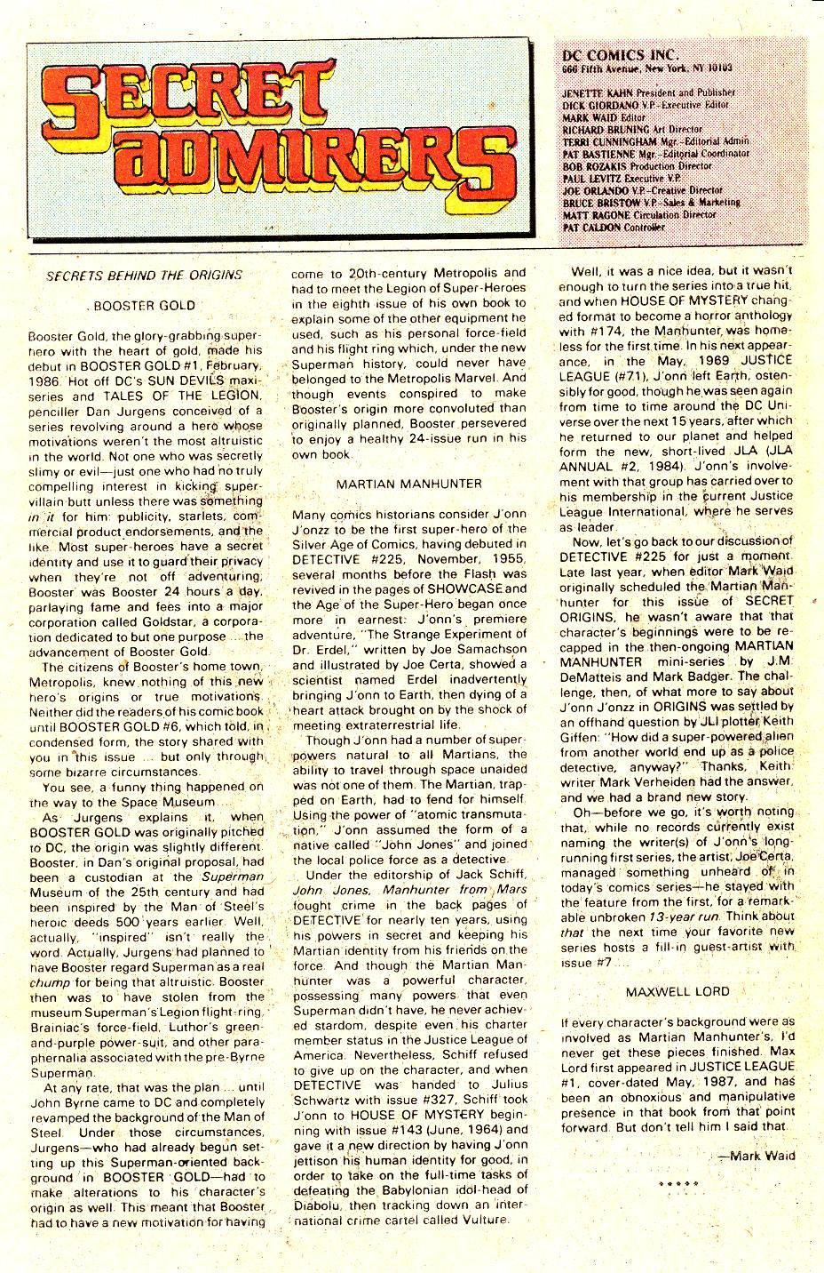 Read online Secret Origins (1986) comic -  Issue #35 - 17