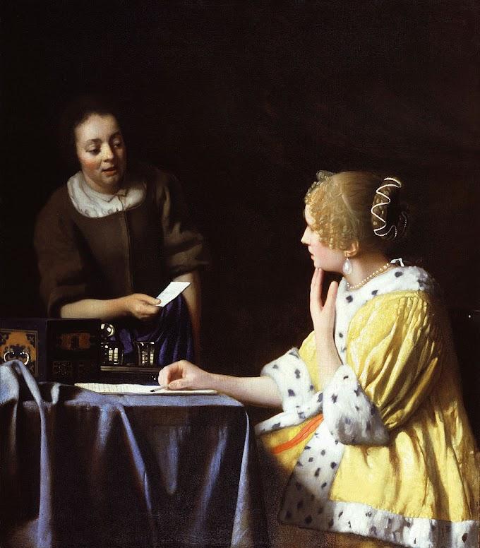 لوحة السيدة والخادمة