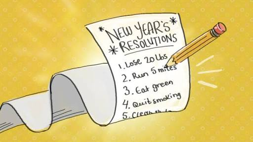 Making a new year resolution