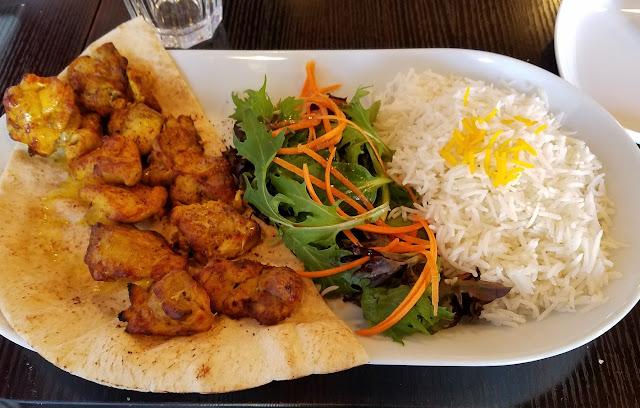 Ashy's Afghan, Ashburton, chicken kebabs