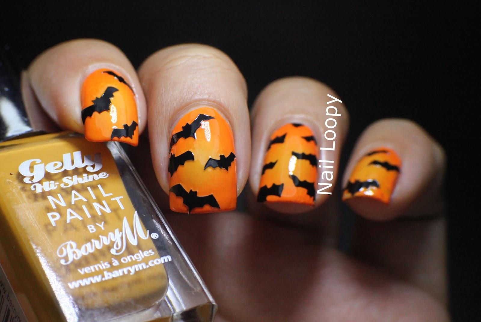 nail loopy: HALLOWEEN BAT NAILS