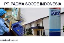 Lowongan Kerja Terbaru PT. Padma Soode Indonesia Bulan Desember 2018