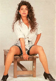 Juhi Chawla Smooth Legs With Black Boots