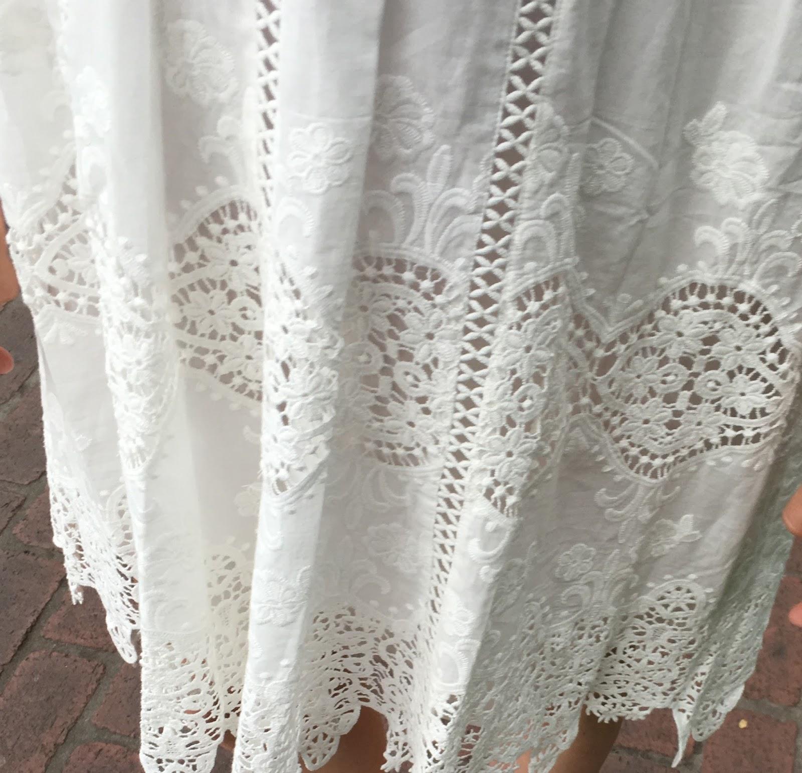 white lace babydoll dress