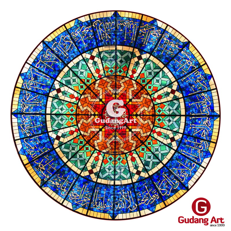 Kerajinan Ornamen Kaca Patri Untuk Masjid Gudang Art Design