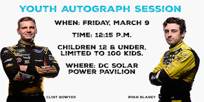 Kids Get Chance To Meet NASCAR Stars Blaney, Bowyer And Lajoie During Exclusive Autograph Session At ISM Raceway