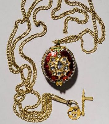 La joyería del Imperio Otomano Reloj+en+una+cadena+de+oro.+Esmalte%252C+diamantes