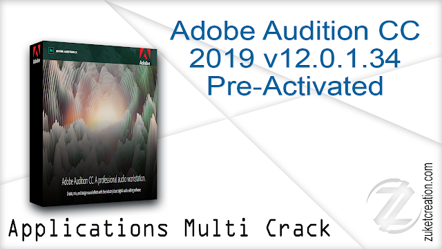 Adobe Audition CC 2019 v12.0.1.34 Pre-Activated