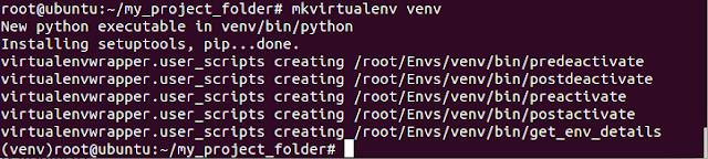 Creando ambiente virtual con virtualenvwrapper