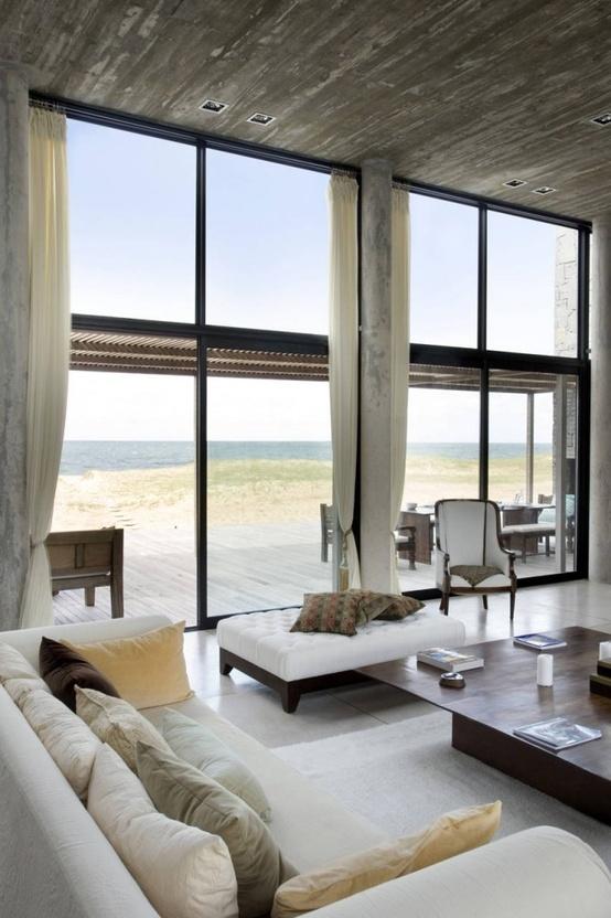 idea living room floor to ceiling windows