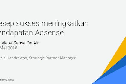 eBook Sukses Meningkatkan Pendapatan AdSense Dari Google