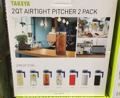 Costco 1041627 - Takeya 2qt Airtight Pitcher - Great for all of your favorite beverages
