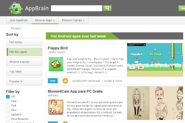 app market appbrain تحميل