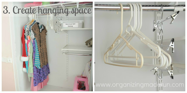 Create hanging space for guests clothing :: OrganizingMadeFun.com