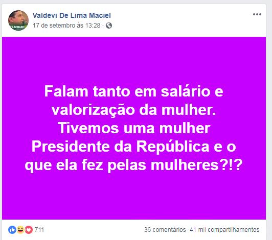 VALDEVI VIRALIZA NA INTERNET