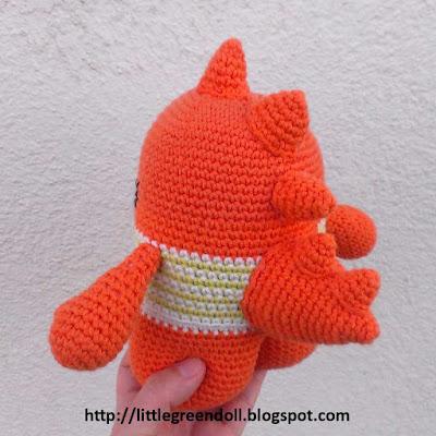 Amigurumi crochet Godzilla Pica Pau