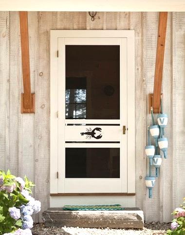 screen door with cutout