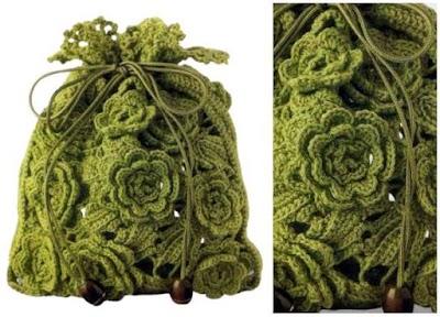 Bolsito de Flores de Crochet Patron