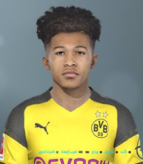 PES 2019 Faces Jadon Sancho by Shenawy
