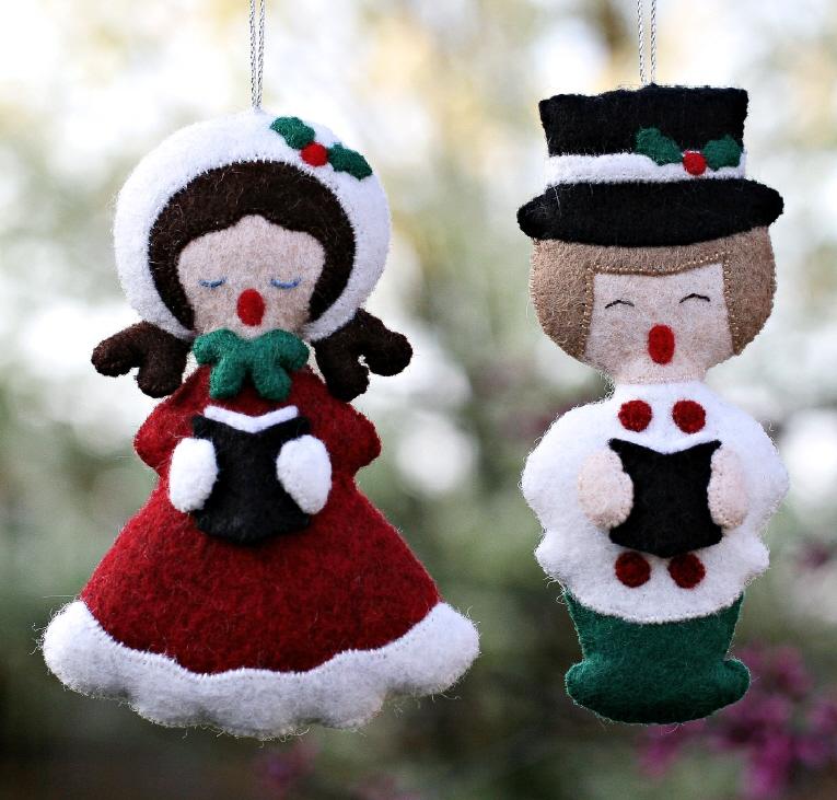 Christmas Carol Singers Decorations: Fans Of Carolyn DeAngelis Felt Ornaments: May 2013