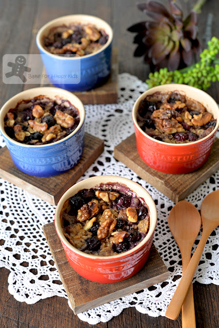 baked oatmeal banana blueberry walnut