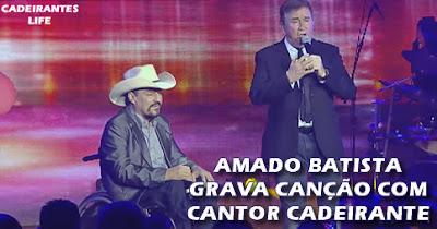 Amado Batista grava canção com Elias Wagner