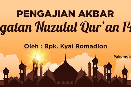 Desain Backdrop Pengajian Nuzulul Qur'an