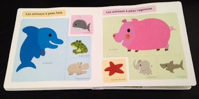 Mon grand imagier à toucher - Editions MILAN JEUNESSE- Les animaux à peau lisse et à peau rugueuse