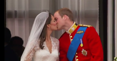 Kate and William royal wedding kiss photos