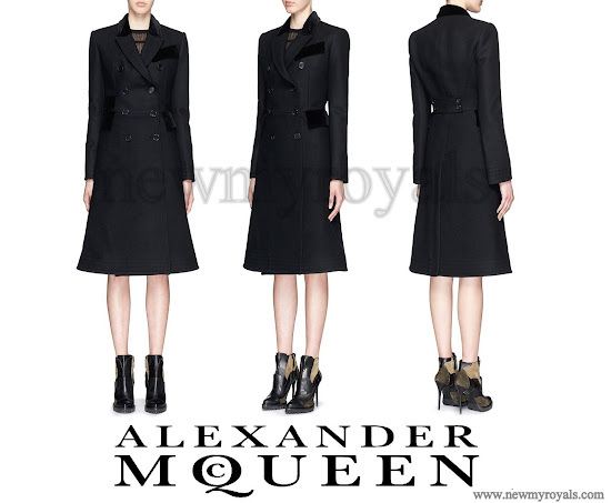 Kate Middleton wore the black Alexander McQueen coat