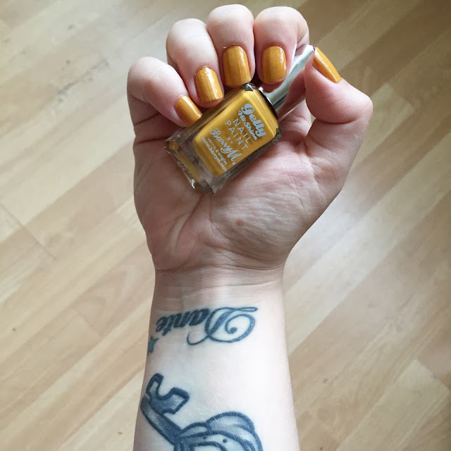 barry m nail paint mustard