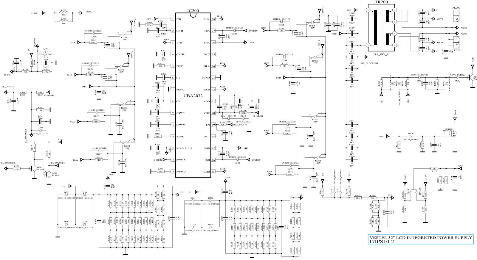 Electro Help  Lcd Tv Power Supply Inverter  U2013 Vestel Ips10