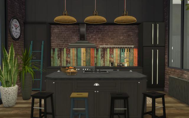 cuisine noire sims 4