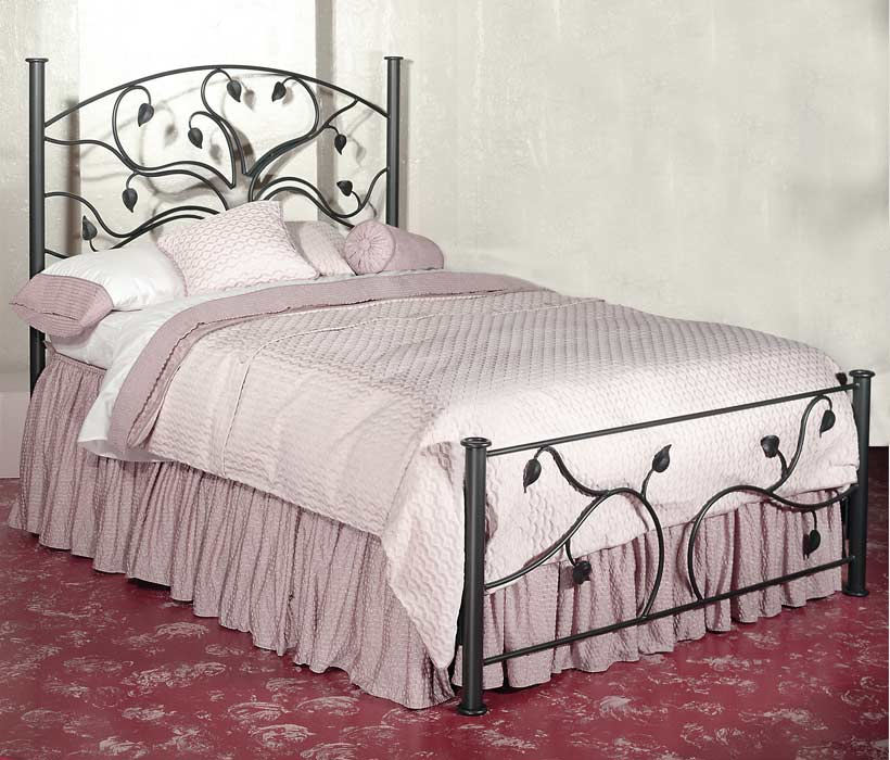 Wrought iron bed furniture designs an interior design for Iron bedroom furniture