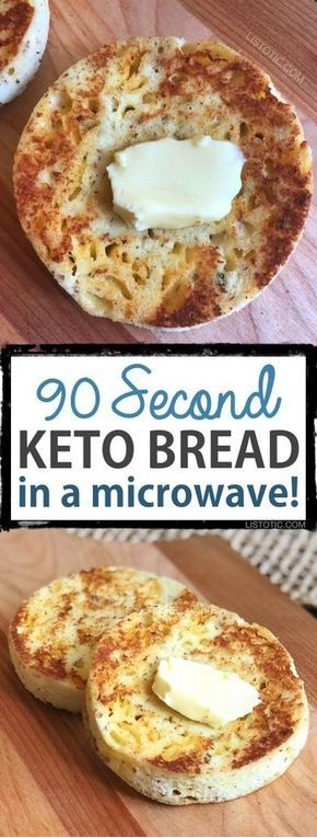 90 Second Keto Bread (In A Microwave)