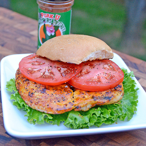 How to make a grilled chicken sandwich on a kamado grill.