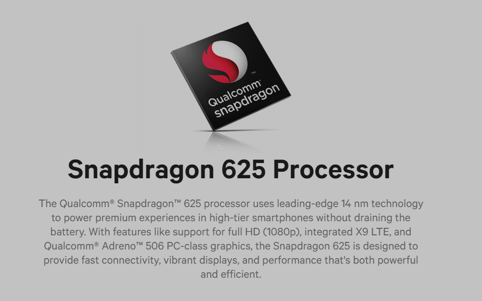 snapdragon 625 Processor Specifications