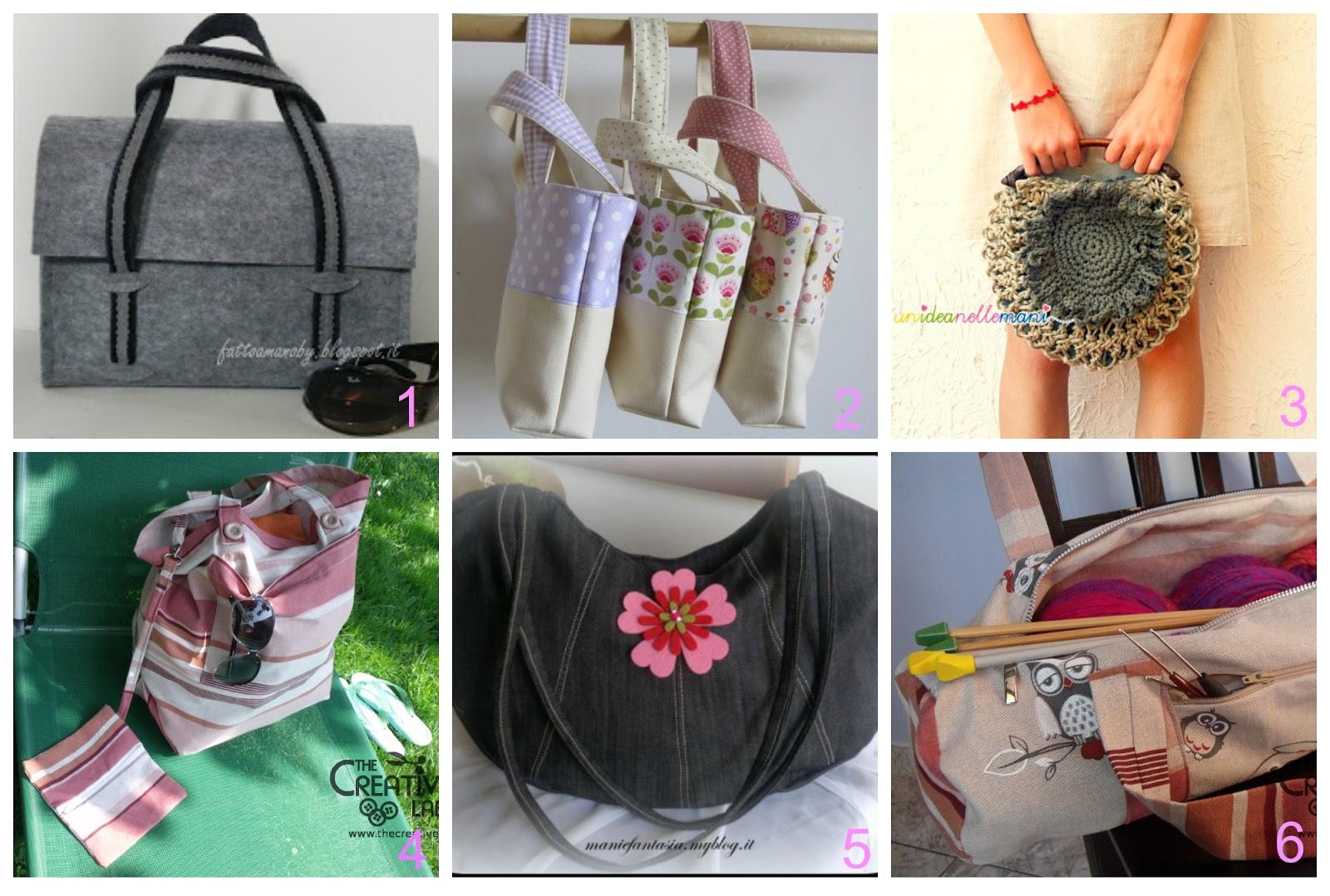 Molto 6 borse fai da te con cartamodelli in italiano | donneinpink magazine JR45