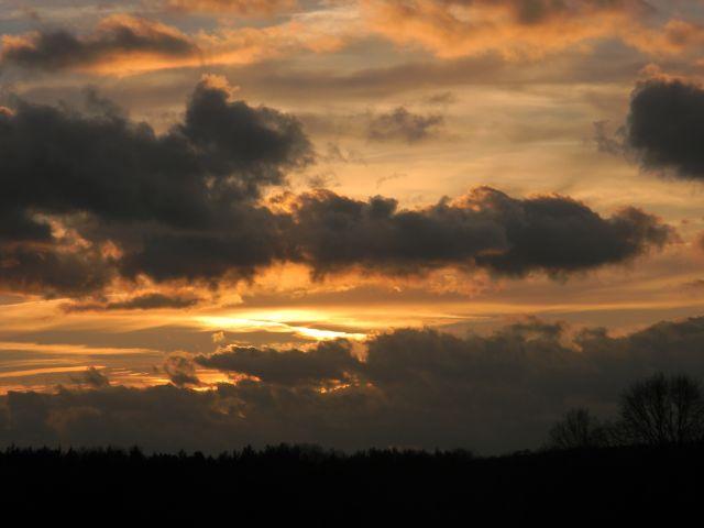 miłość, chmury, natura, przyroda