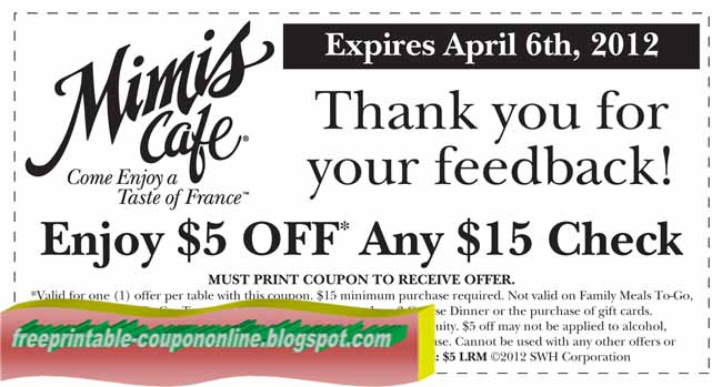 graphic relating to Mimi's Coupons Printable named Mimi cafe discount coupons - The human body retail store groupon