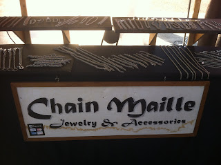 chainmail jewelry booth