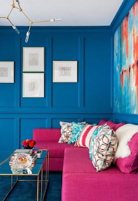 Mengkombinasikan Warna Biru Dan Pink Menjadi Tampak Manis
